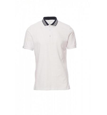 Polo Manica Corta Jersey Slub Yarn 160Gr Nautic S Bianco/Blu Navy-Bian