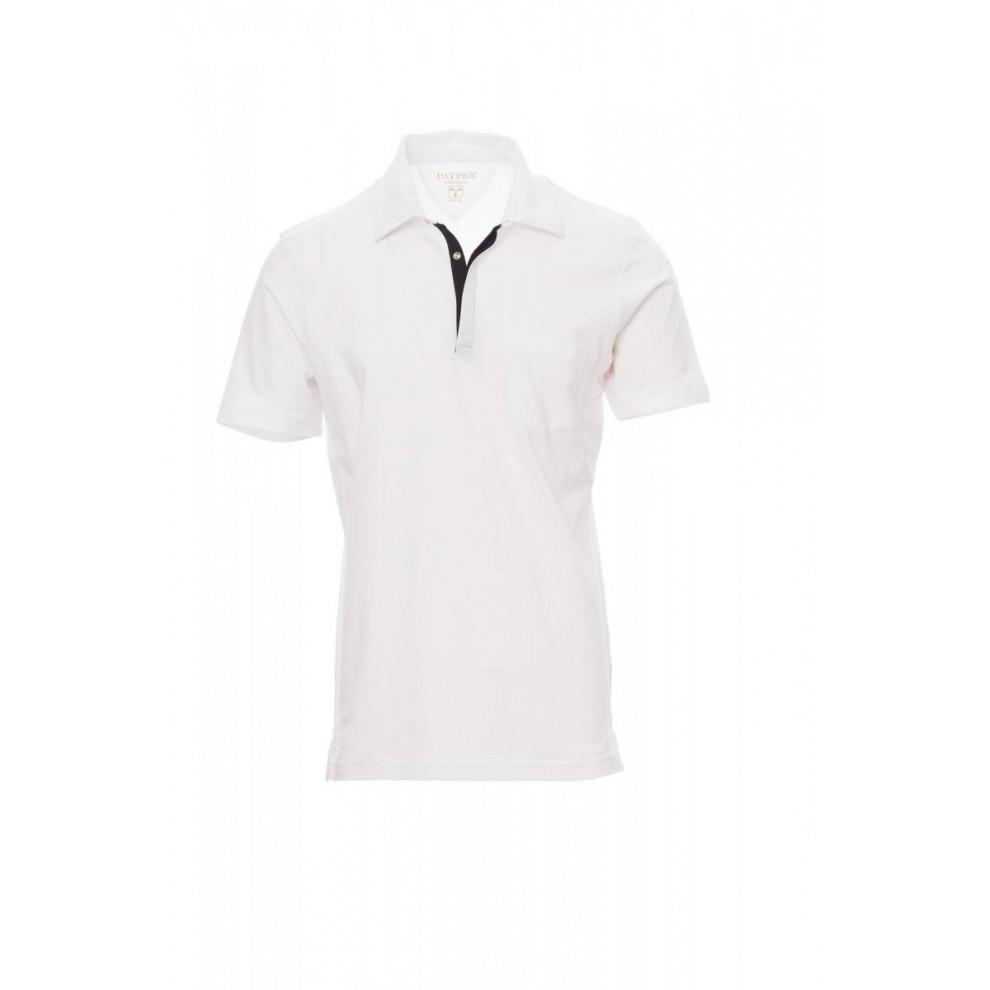 Polo Manica Corta Jersey 150Gr Chic S Bianco/Nero