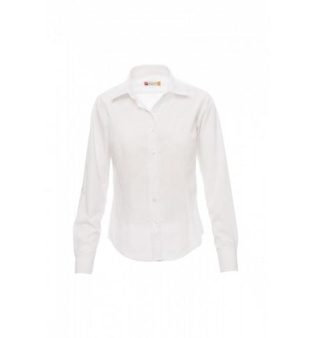 Camicie Manica Lunga Easy Care Popeline 125Gr Con 65% Poliestere Brighton Lady S Bianco