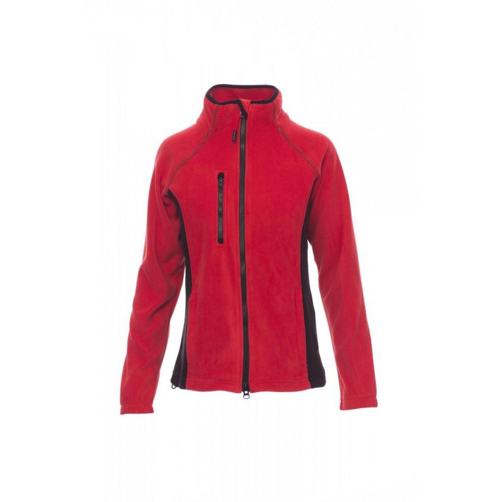 Pile And Technical Fleece Full Zip Pile 280Gr Aspen+Lady S Rosso/Nero