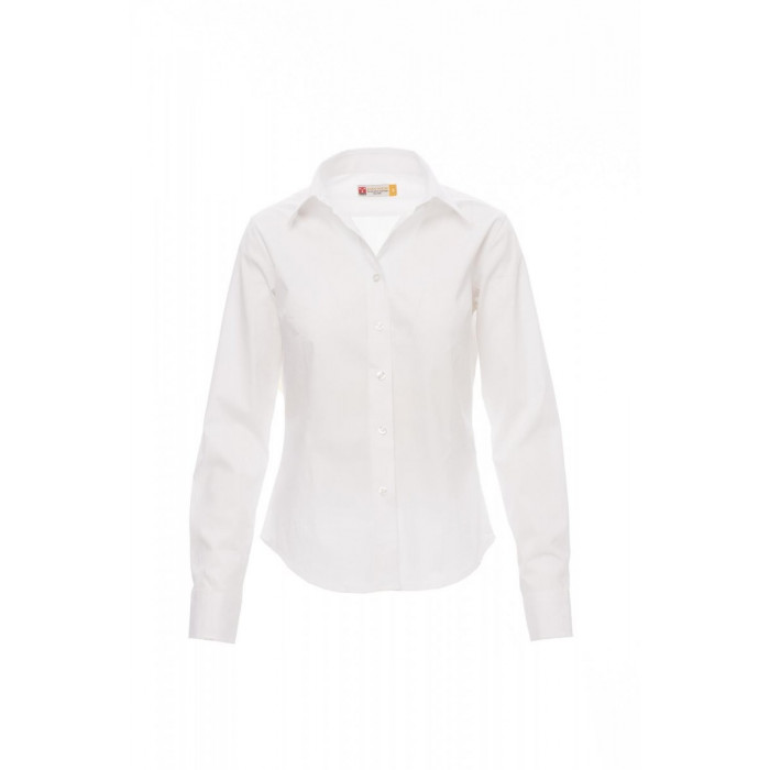 Camicie Manica Lunga Easy Care Popeline 125Gr Manager Lady S Bianco