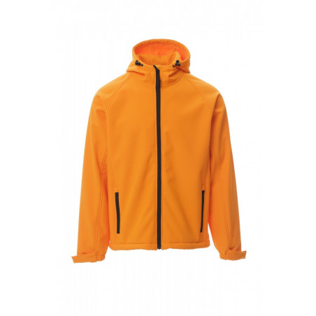 Soft-Shell No Imbottito Con Cappuccio Soft Shell Mechanical Stretch 320 Gr Gale S Arancione