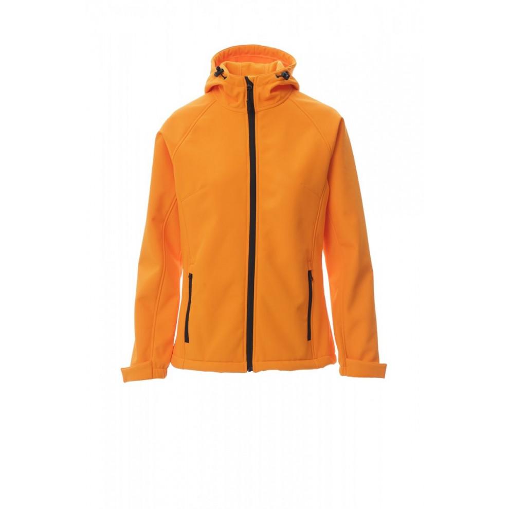 Soft-Shell No Imbottito Con Cappuccio Soft Shell Mechanical Stretch 320 Gr Gale Lady S Arancione