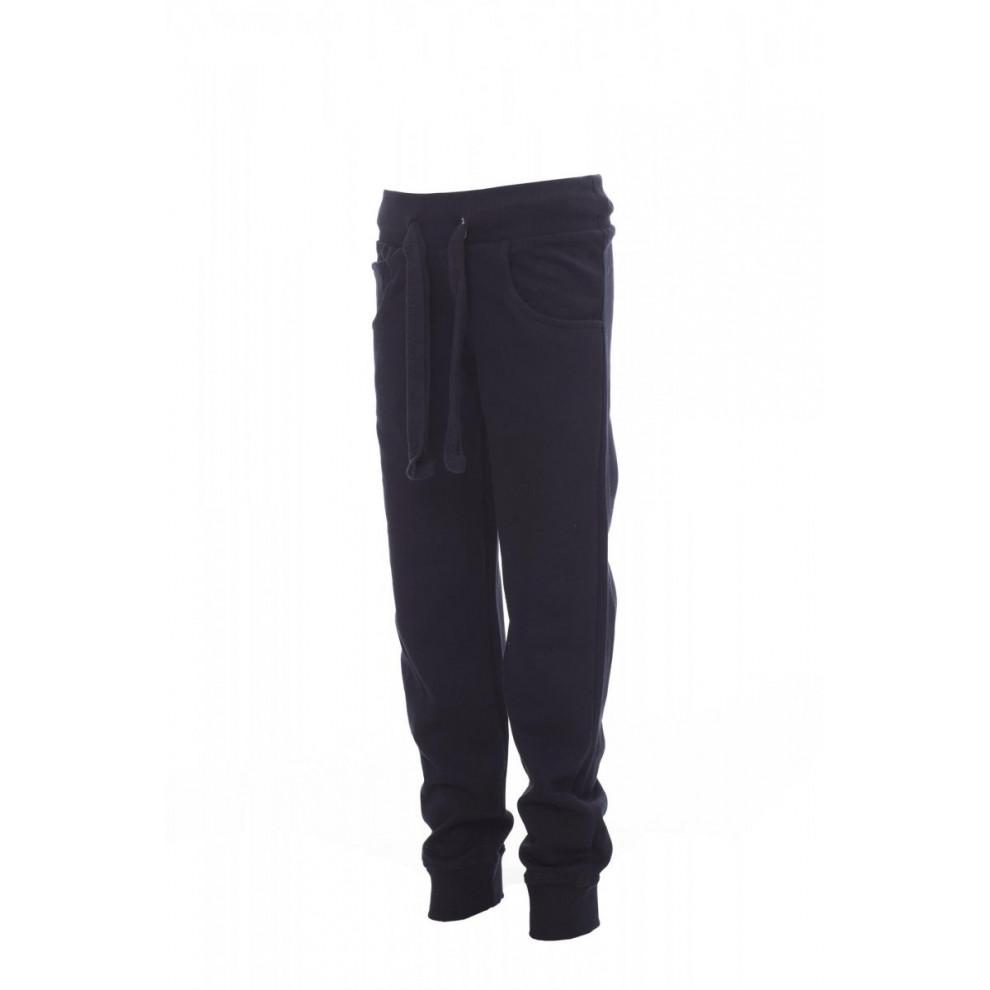 Pantaloni In Felpa Sportivo French Terry 280Gr Con Poliestere Freedom+Kids 2/3 Blu Navy