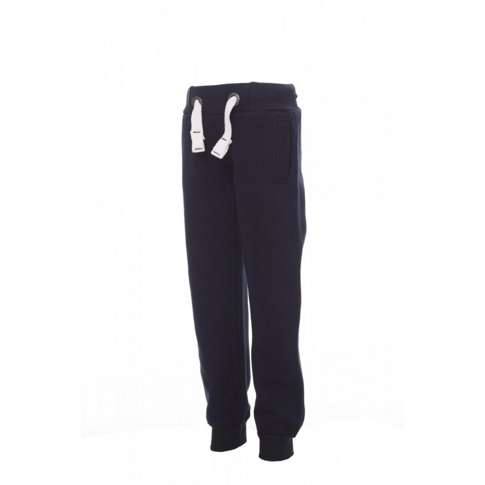 Pantaloni In Felpa Sportivo Garzata 300Gr Seattle Kids 2/3 Blu Navy