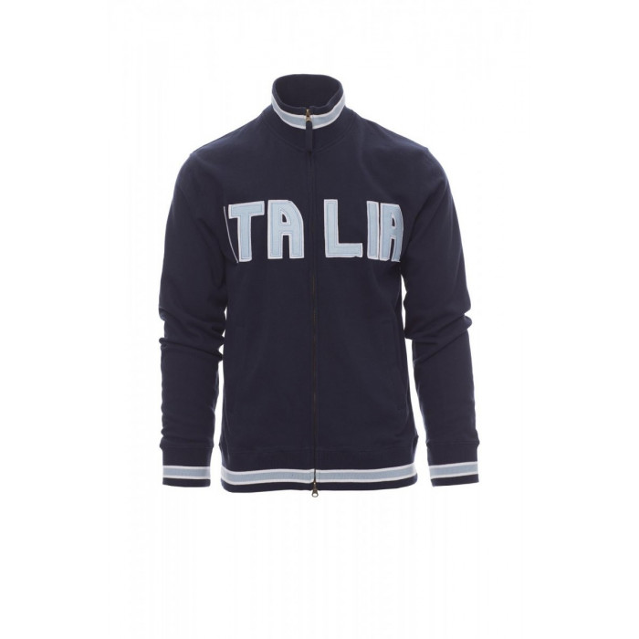 Felpe Full Zip French Terry 300Gr Sport Xs Blu Navy