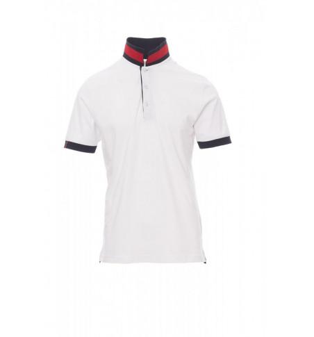 Polo Manica Corta Jersey 175Gr Memphis S Bianco/Rosso-Blu