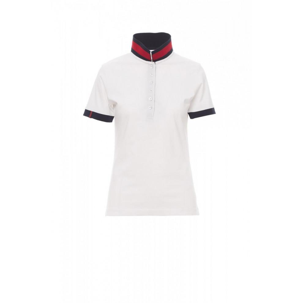 Polo Manica Corta Jersey 175Gr Memphis Lady S Bianco/Rosso-Blu