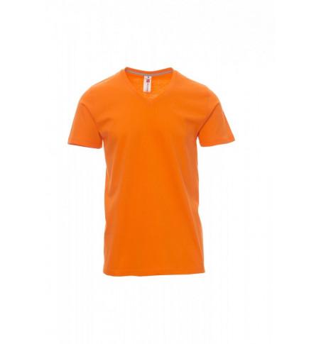 T-Shirt Manica Corta Jersey 150Gr V-Neck S Arancione