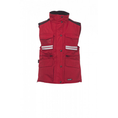 Gilet Imbottito Senza Maniche Pongee Ripstop 240T 180Gr Flight Lady S Rosso